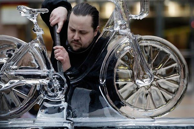 bici de hielo de Cristiano Poga
