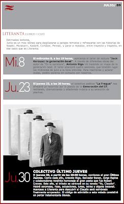 agenda literanta para julio