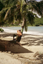 Tommy at the beach in St.Lucia