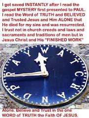 Trust Jesus Alone