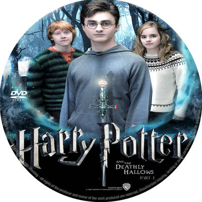 harry potter and the deathly hallows part 1 dvd release date australia. harry potter 7 dvd label.