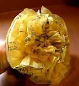 Tissue Flower With Vintage Patterns