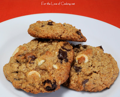 Oatmeal, Dark Chocolate and White Chocolate Chip Cookies | For the ...