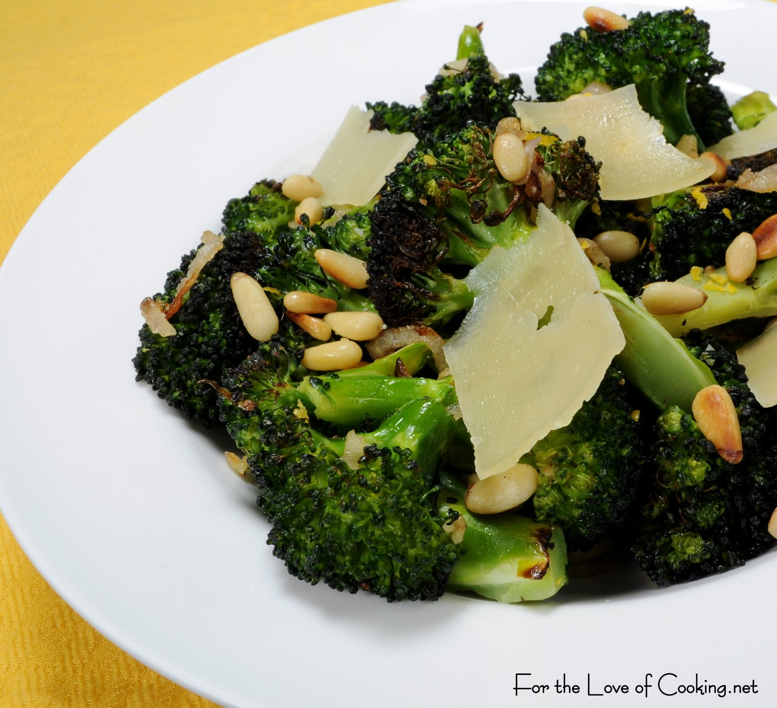 Roasted Broccoli with Shallots, Pine Nuts and Parmesan | For the Love ...