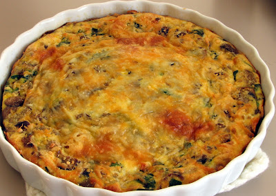 Mushroom, Spinach, and Sausage Frittata