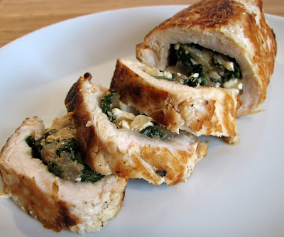 Feta, Spinach and Caramelized Onion Stuffed Chicken Breasts | For the ...