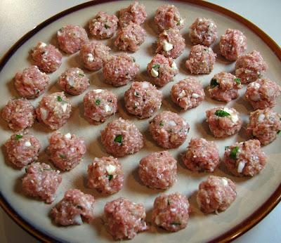Greek Style Minestrone with Turkey and Feta Meatballs