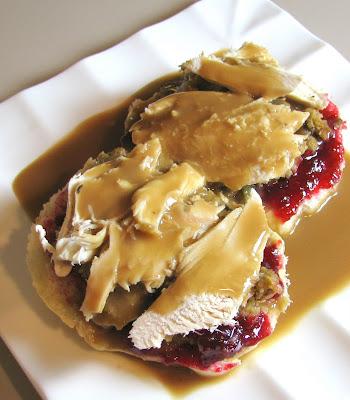 Open Faced Turkey Sandwich