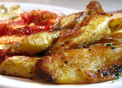 Roasted Tomatoes, Fennel and Fingerling Potatoes