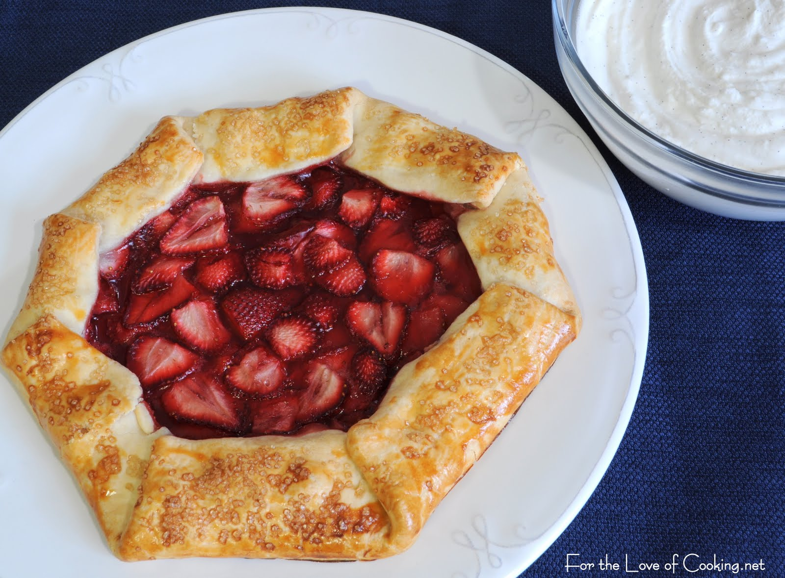 Strawberry Galette with Homemade Vanilla Whipped Cream | For the Love ...