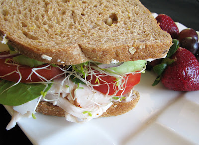 Turkey, Swiss and Vegetable Sandwich | For the Love of Cooking