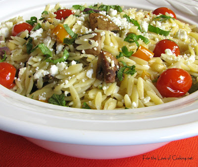 Orzo with Roasted Vegetables | For the Love of Cooking