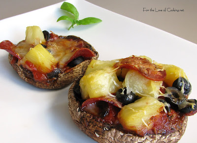 Portobello Mushroom Pizzettas | For the Love of Cooking