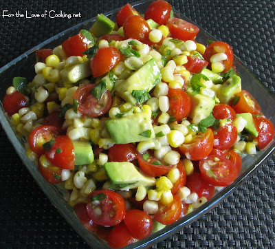 Grilled Corn, Avocado and Tomato Salad with Honey Lime Dressing | For ...