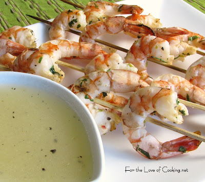 Cilantro Lime Shrimp with a Honey Lime Dipping Sauce