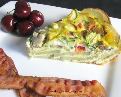 Veggie Quiche with Potato Crust