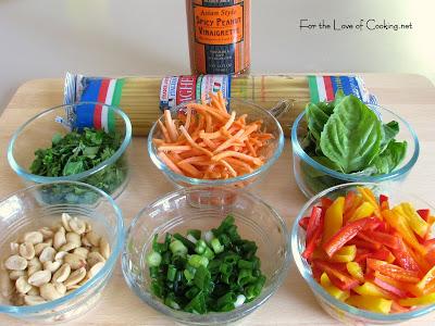 Spicy Peanut Asian Noodle Salad