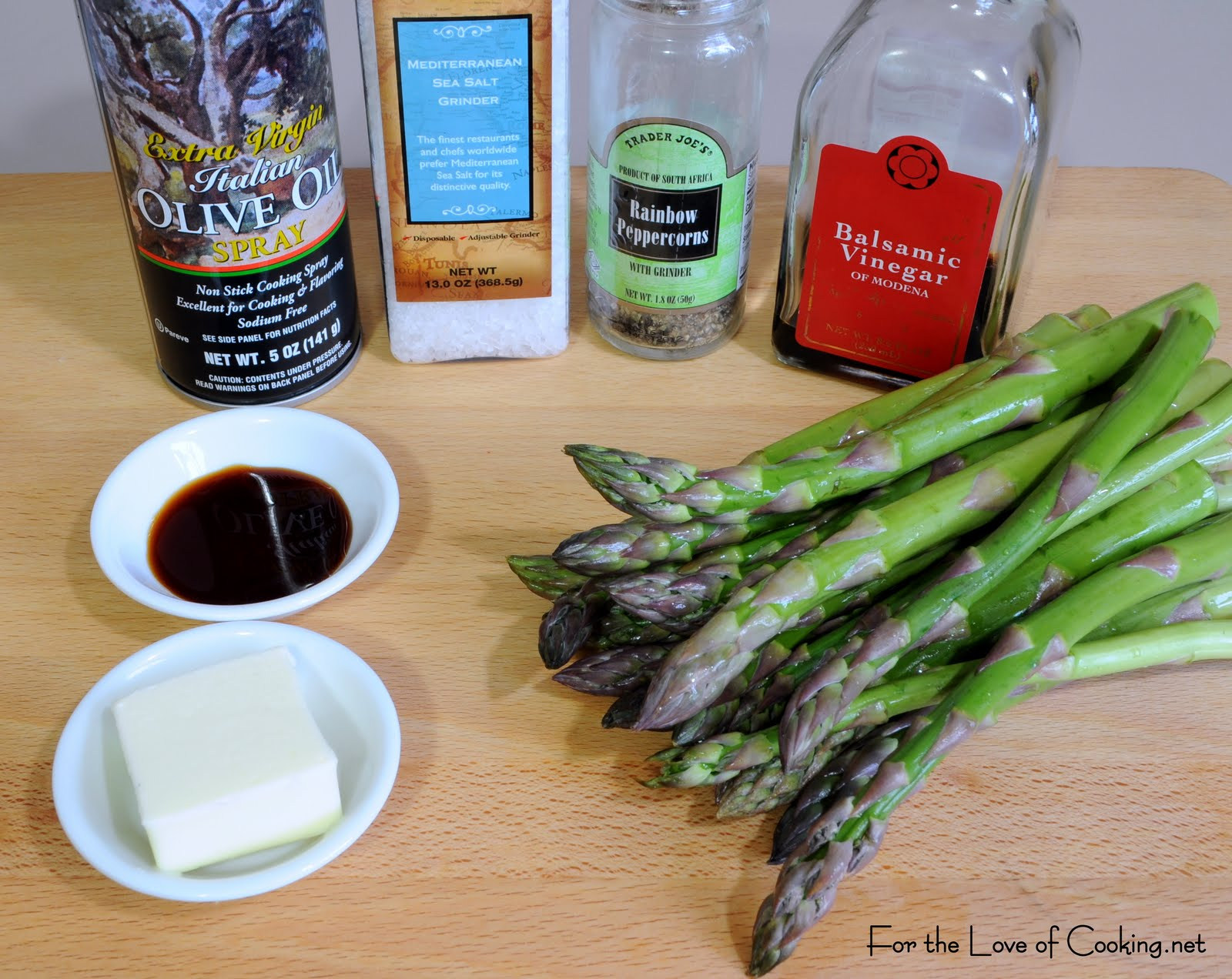 Roasted Asparagus with Browned Butter, Soy and Balsamic Sauce | For ...