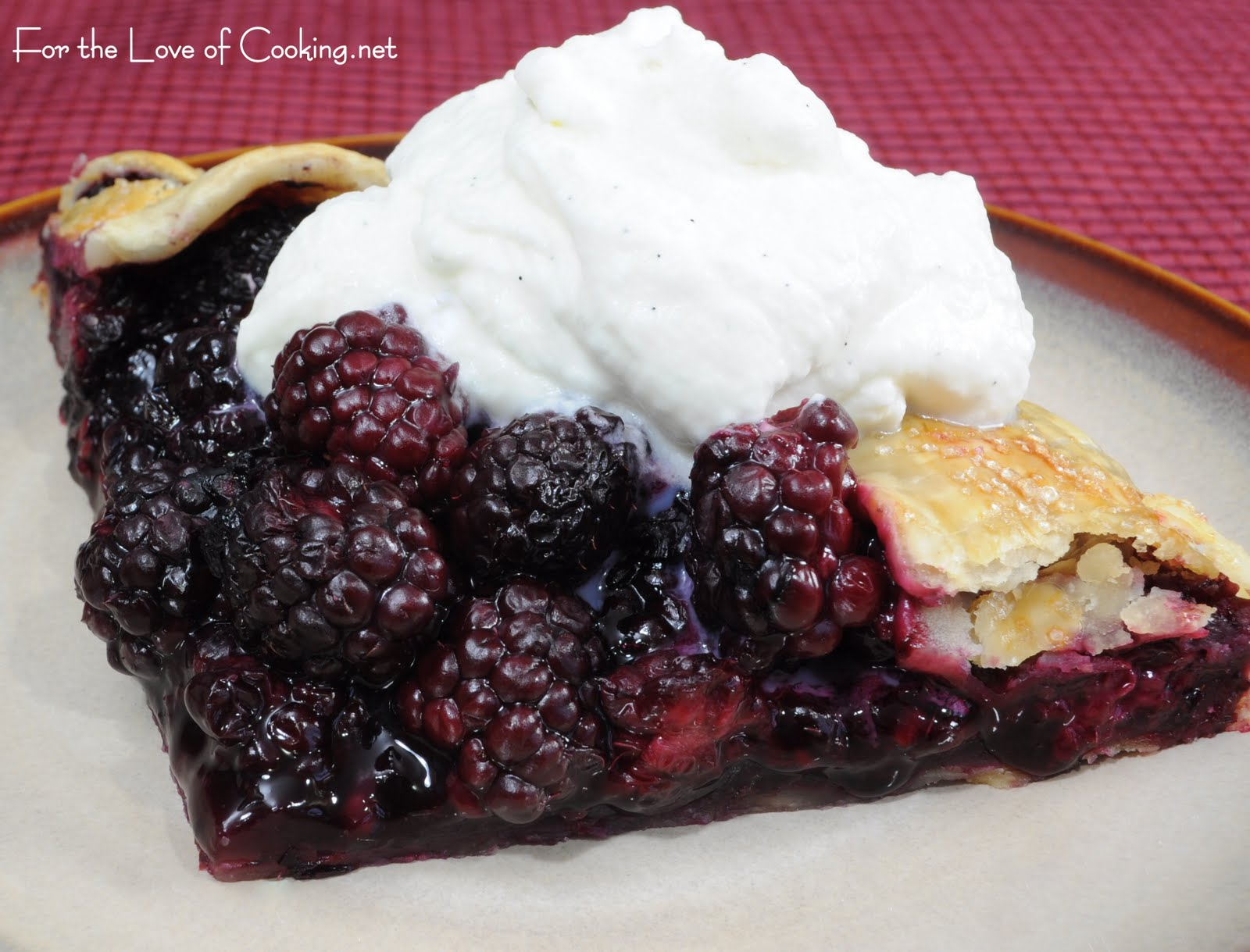 ... and whipped cream blackberry galette with pour the whipping cream in a