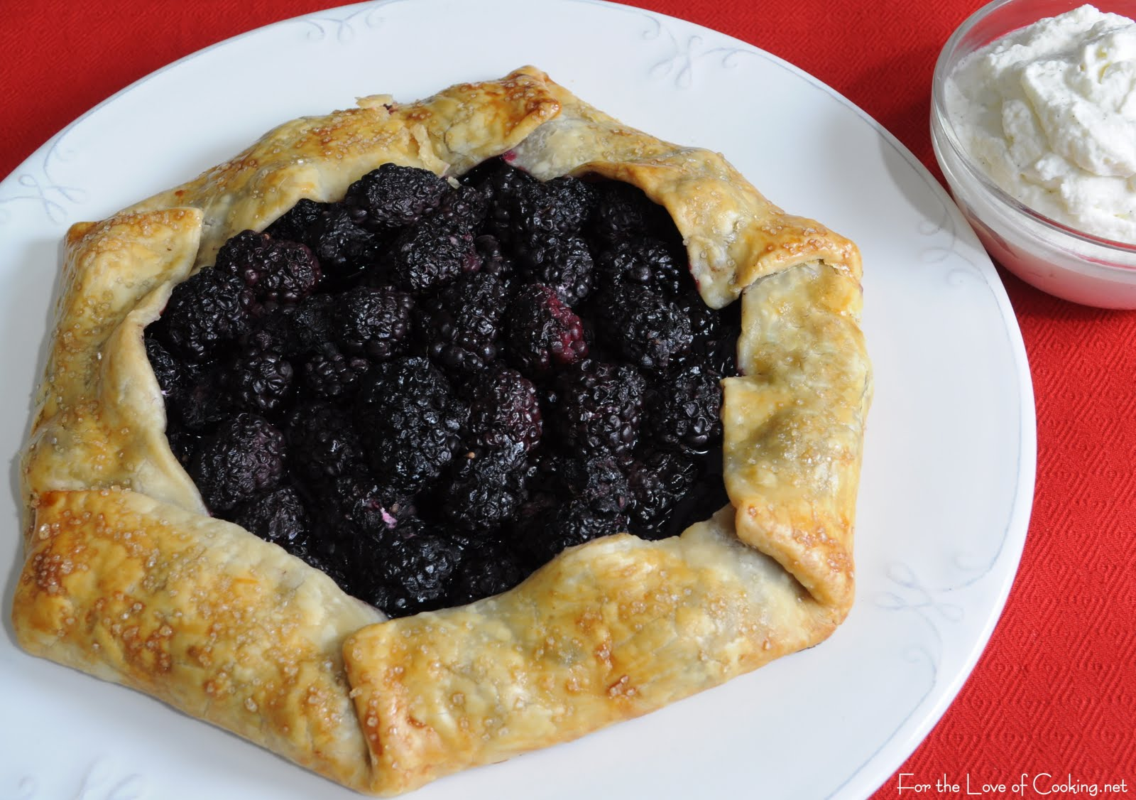 Blackberry Galette With Homemade Vanilla Whipped Cream Recipes ...
