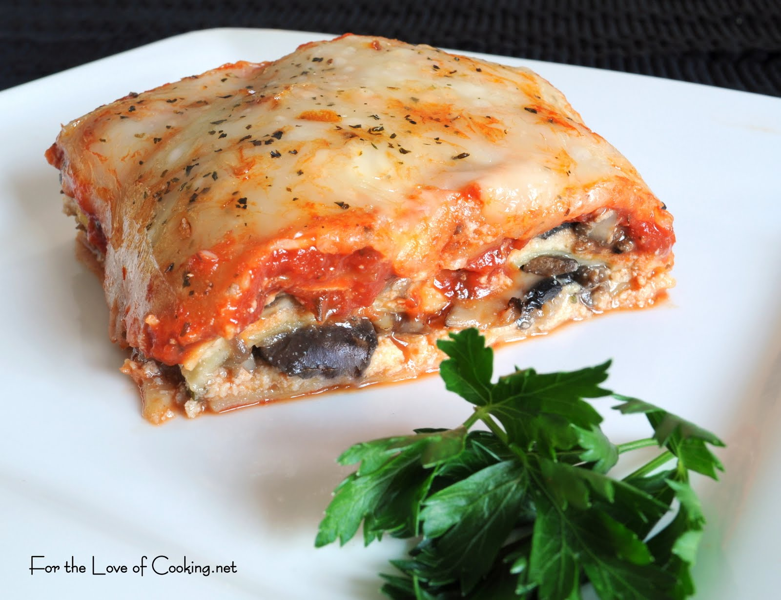 Mushroom and Spinach Lasagna For the Love of Cooking