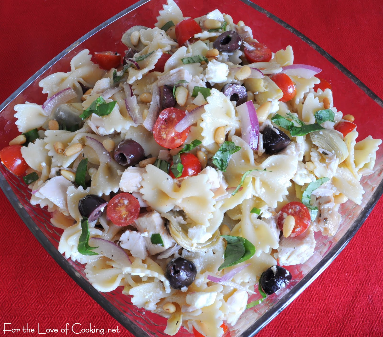 Mediterranean Chicken Pasta Salad | For the Love of Cooking