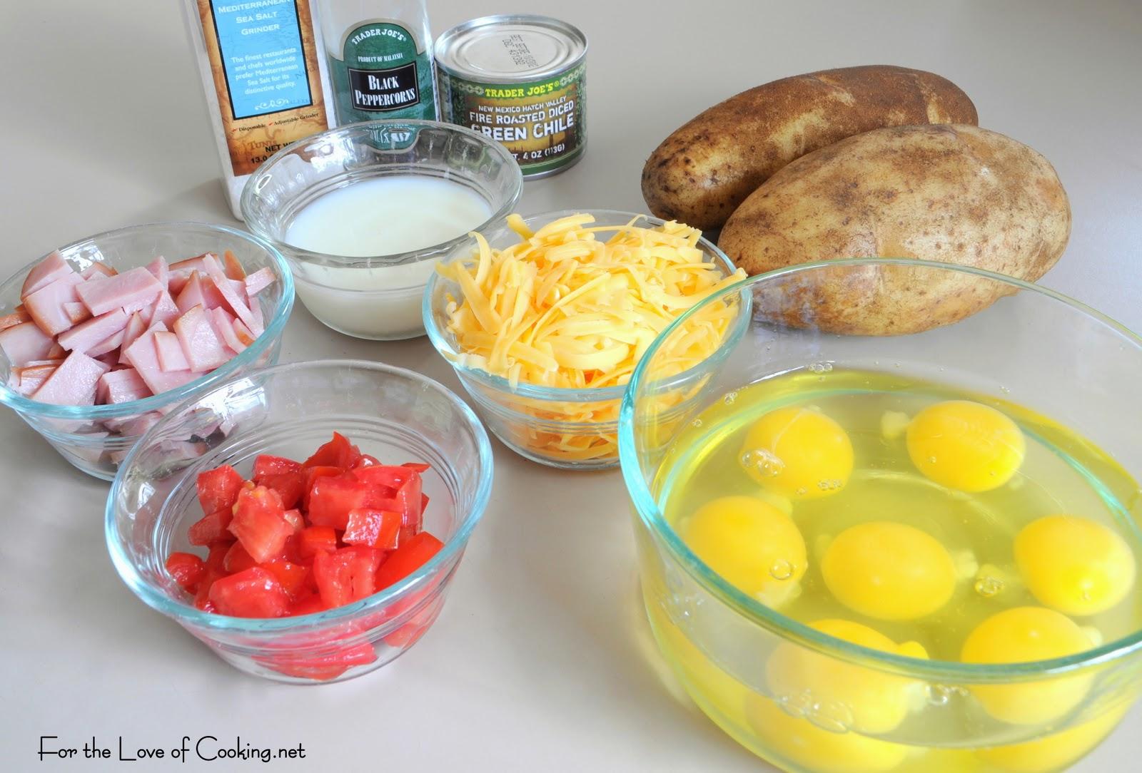 Green Chile And Ham Quiche With A Potato Crust Recipe ...