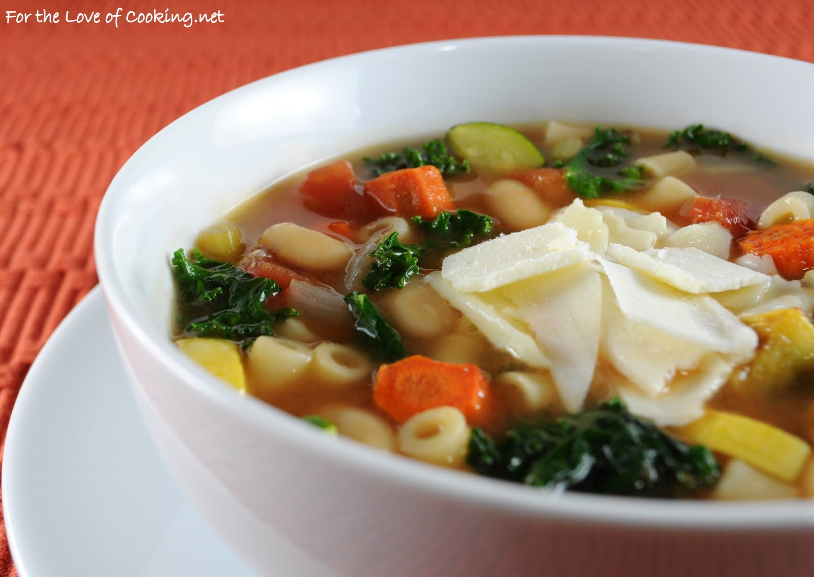 Roasted Vegetable Minestrone | For the Love of Cooking