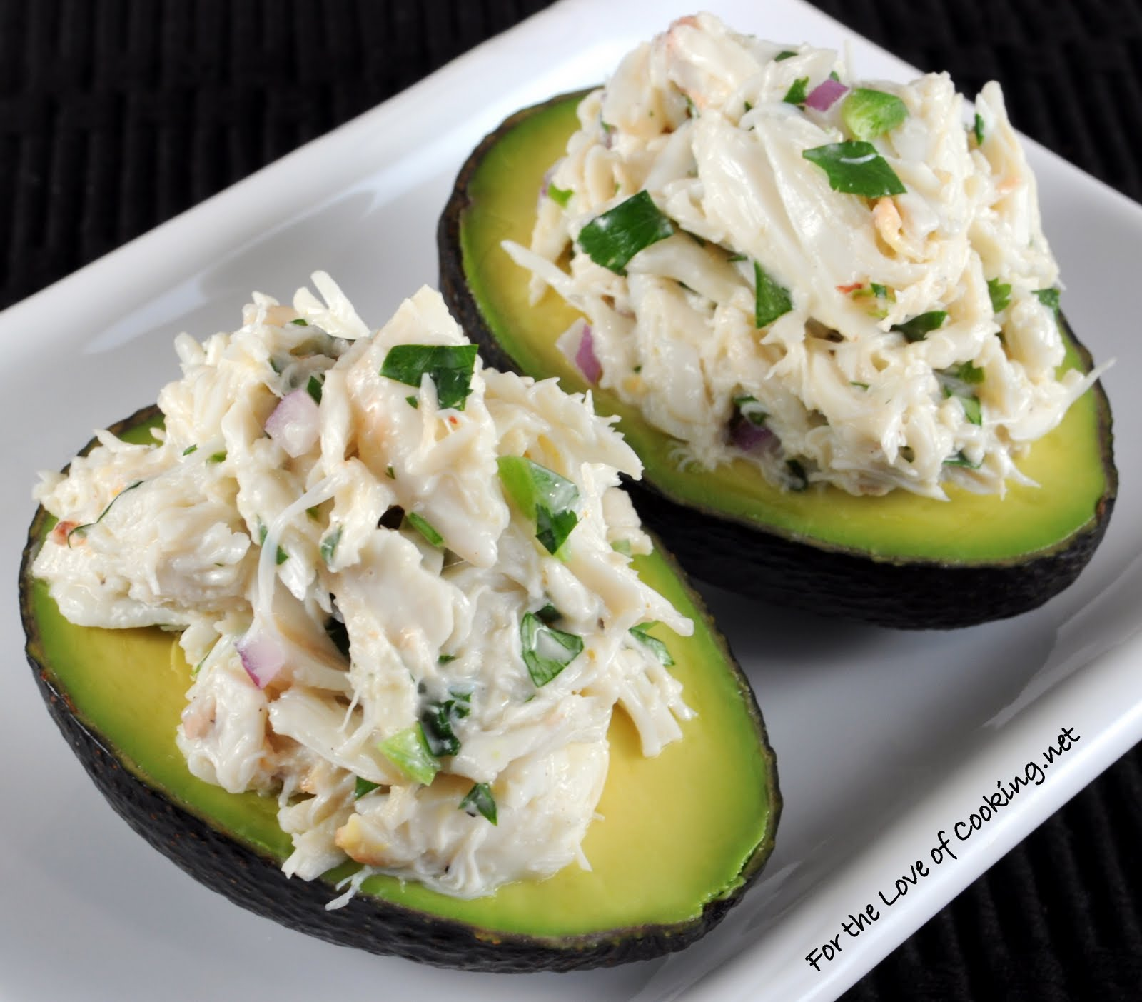 Cilantro and Lime Crab Salad in Avocado Halves | For the Love of ...