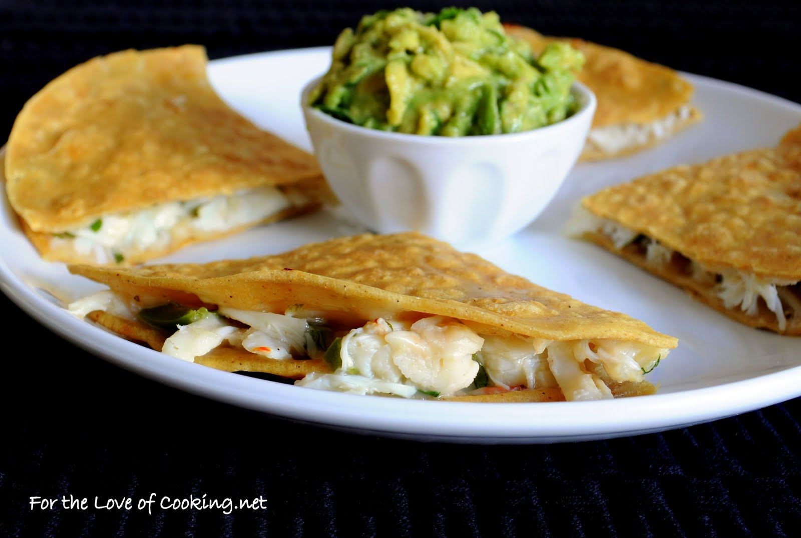 Crab Quesadilla with Homemade Guacamole | For the Love of Cooking