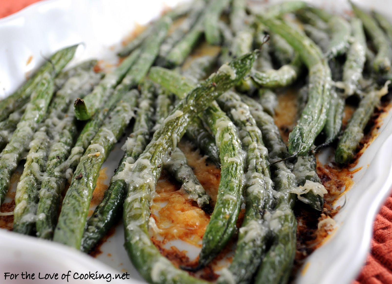 Parmesan Roasted Green Beans | For the Love of Cooking