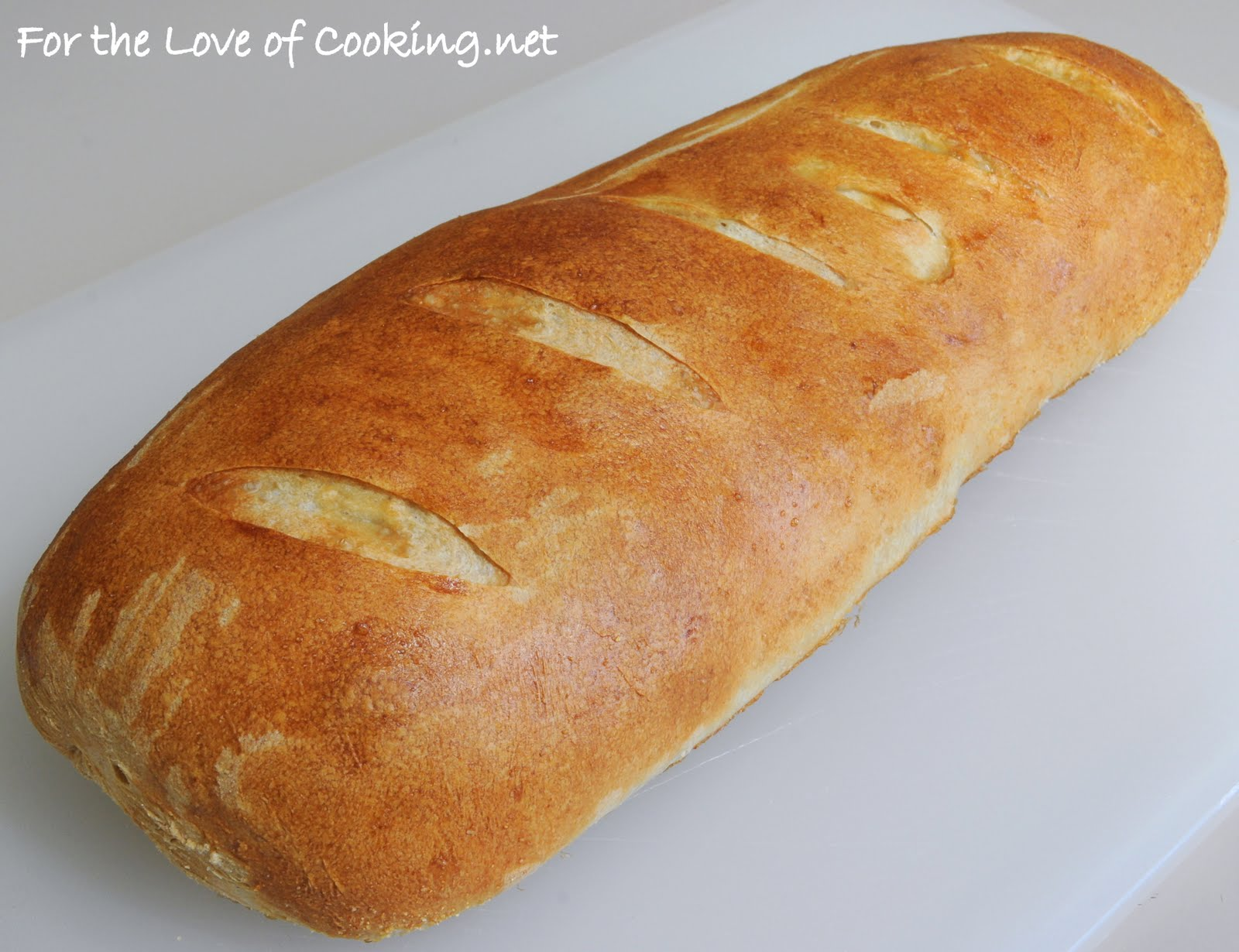 Crusty French Bread Recipe I saw this recipe for crusty french bread ...