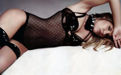 Christina Aloupi in lingerie