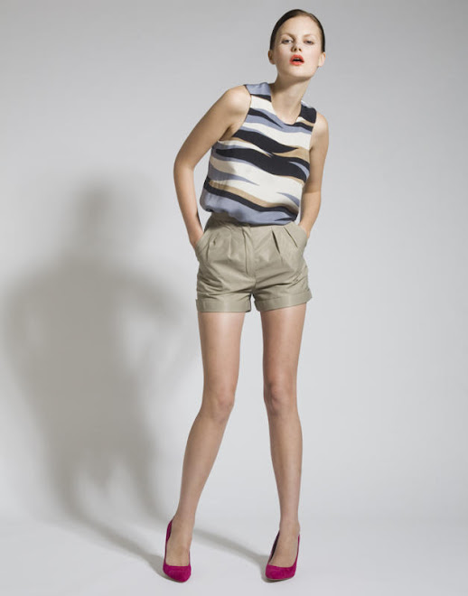 Silk Screen Pewter top and Cotton Mix Shorts