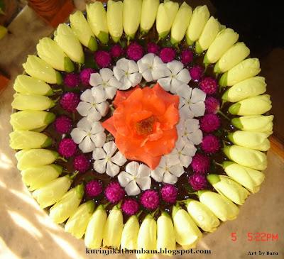 மனதை கொள்ளை கொள்ளும் பூக்களின் அலங்காரங்கள்  Flower+Kolam+-+1
