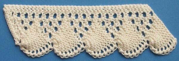 1884 Knitted Lace Sample Book: 13. Shell Pattern
