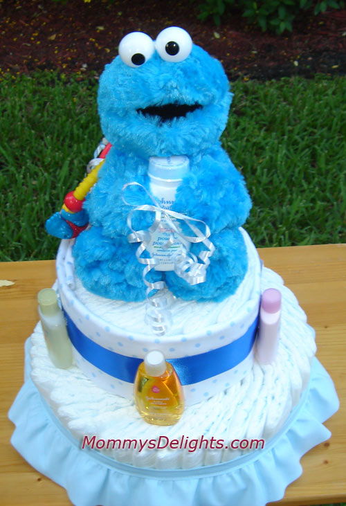 cakes and baby shower gifts just another cookie monster diaper cake