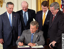 Bush signs the tax increase of 2003