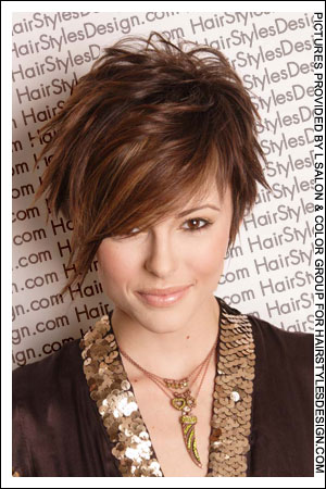 short hairstyles for women - short funky tenn