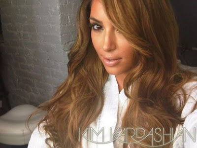 light brown hair color kim kardashian. Kardashian#39;s new hair color is