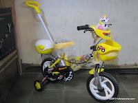 Sepeda Anak EVERGREEN Tongkat-Musik Sapi 12 Inci in Yellow