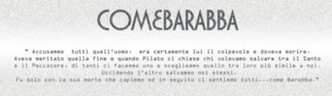 COME BARABBA
