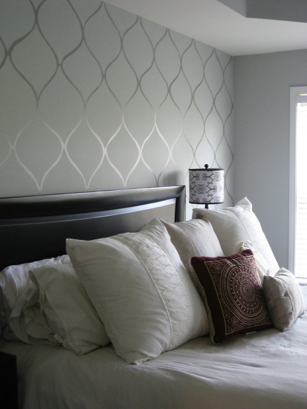 Metallic Wall Paint Stencils