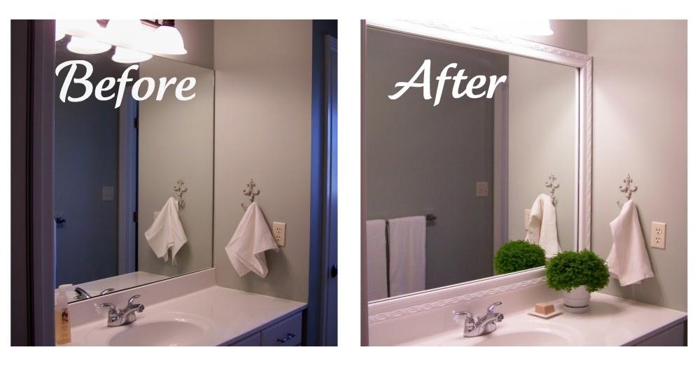 Framing A Bathroom Mirror Before And After mirrormate frames: a soft place to land features mirrormate