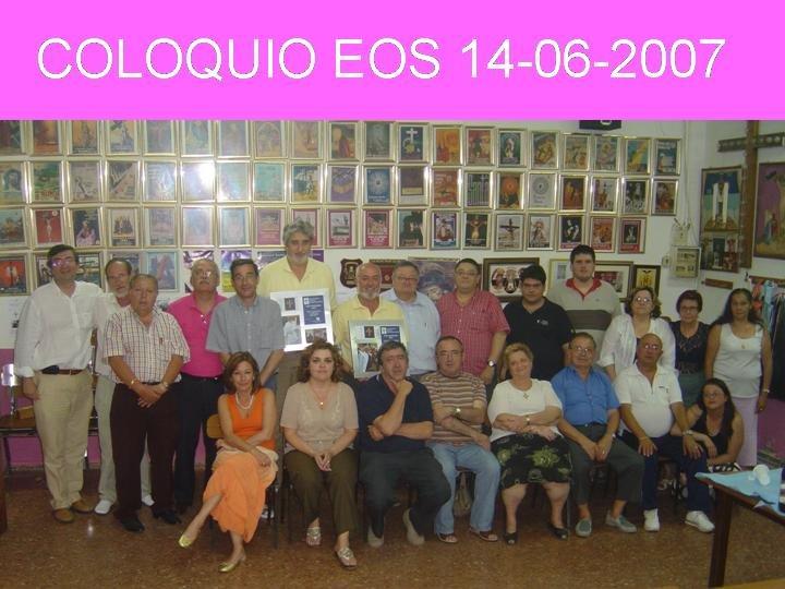 COLOQUIO DE EOS EN EL PERDON. MANUEL MIGUEL Y PACO CARLES RECIBIERON SUS CUADROS DE  CREU MARINERA