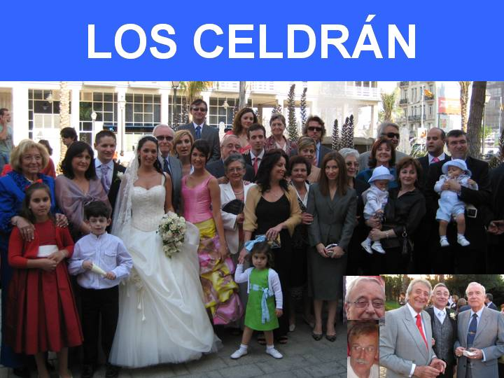 LA FAMILIA CELDRAN EN LA BODA DE ANA MARI Y DANI