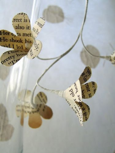 Paper flowers content in a cottage i love these paper flowers made from old book pages mightylinksfo