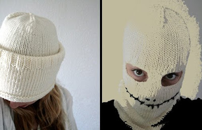 Jack Skellington Hat Knitting Pattern : Jack Skellington Halloween Hat + Mask To Knit Free Pattern Content in a C...