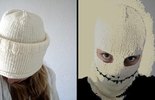 Jack Skellington Halloween Hat Mask To Knit Free