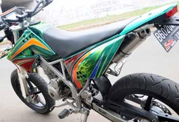 Modif Kawasaki KLX150 Motor Cross title=
